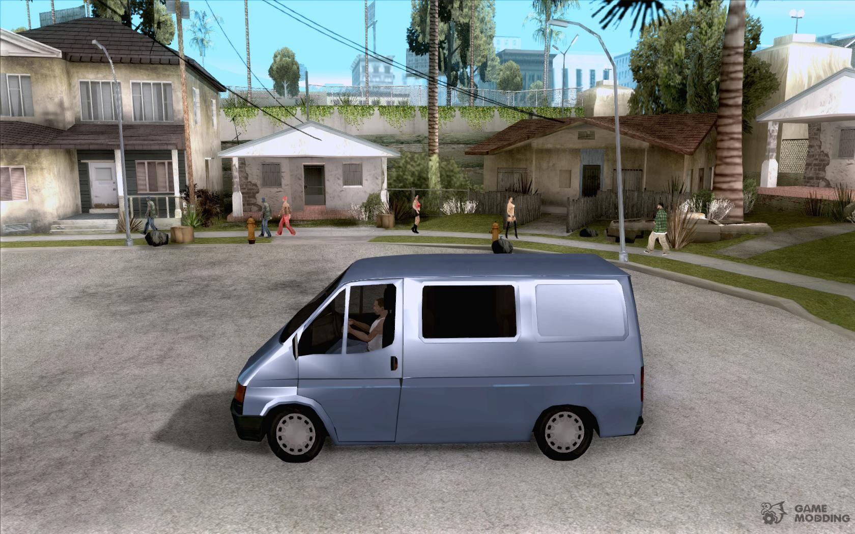 Ford transit 1999 for gta san andreas left view