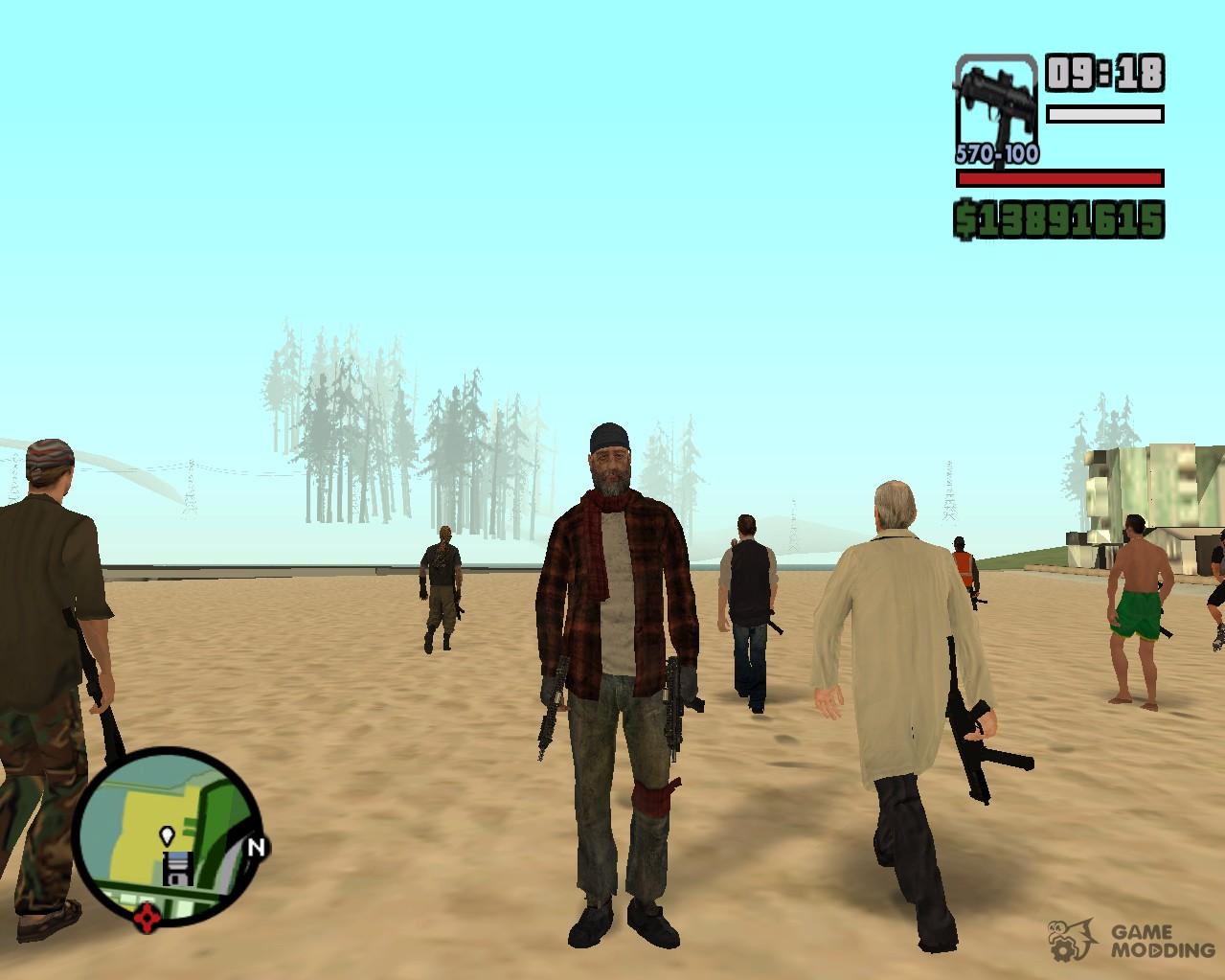 Коды к GTA: San Andreas: Все коды 99