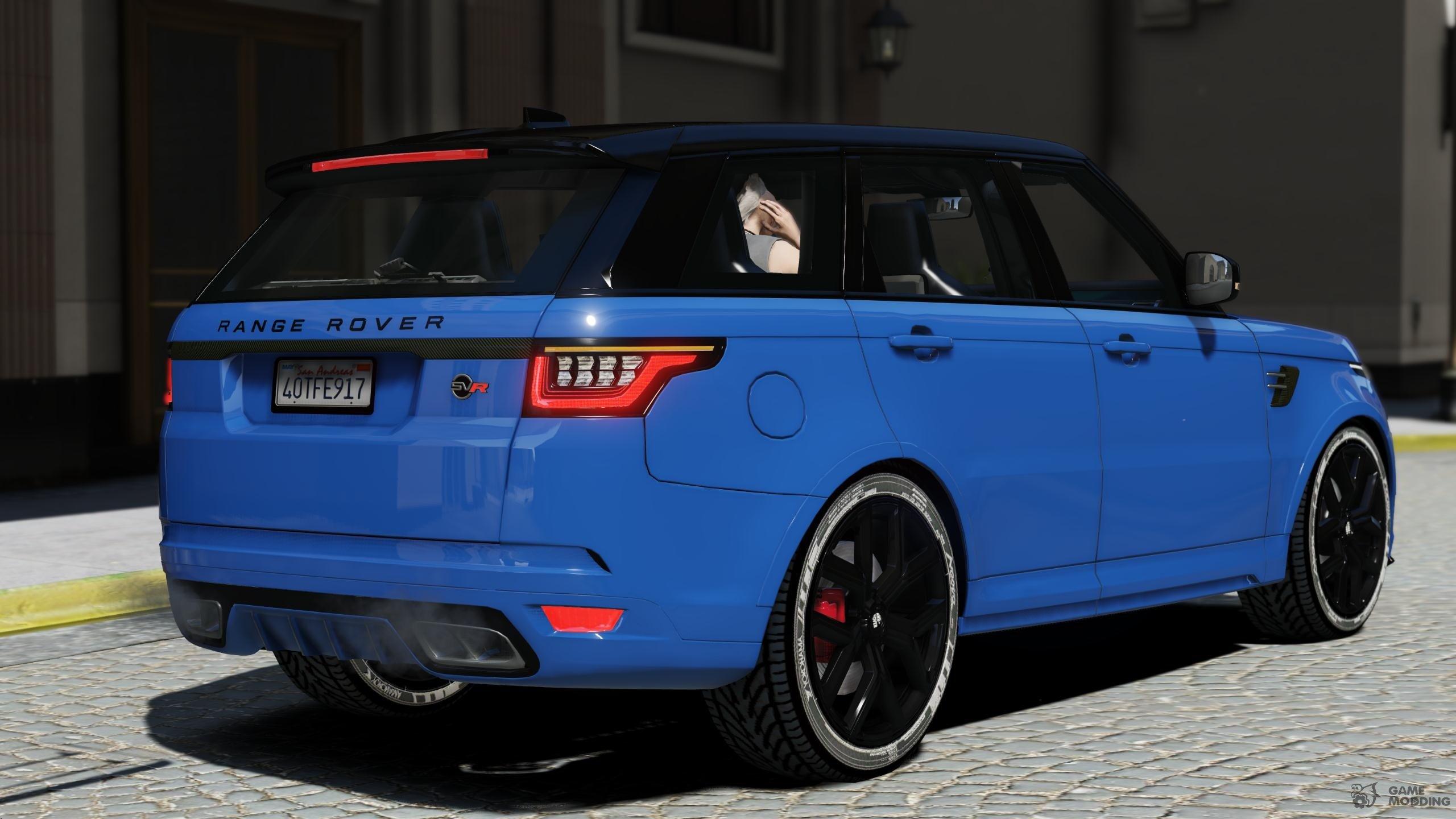 2018 Range Rover Sport Svr For Gta 5