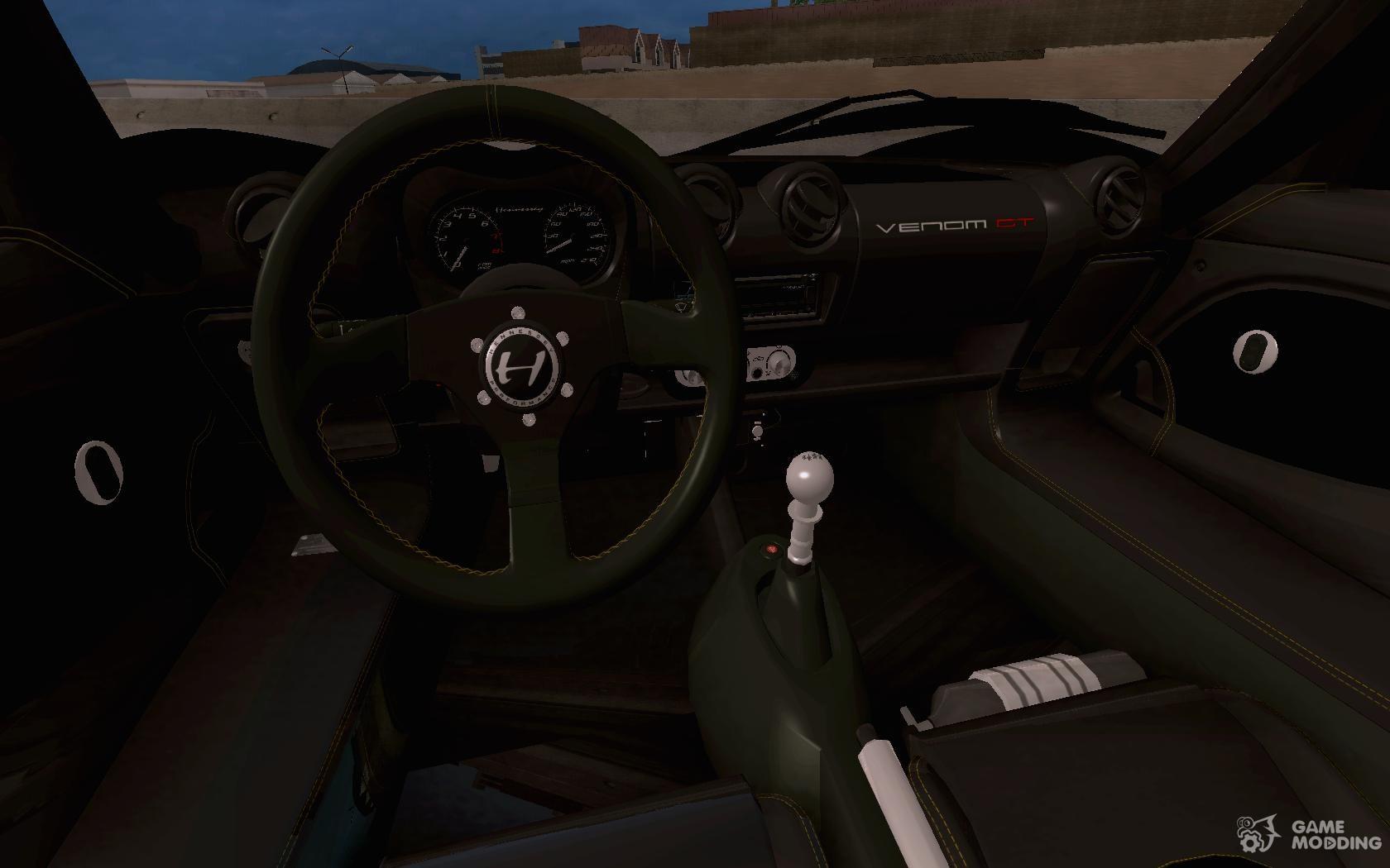 Hennessey Venom GT Spyder For GTA San Andreas Side View