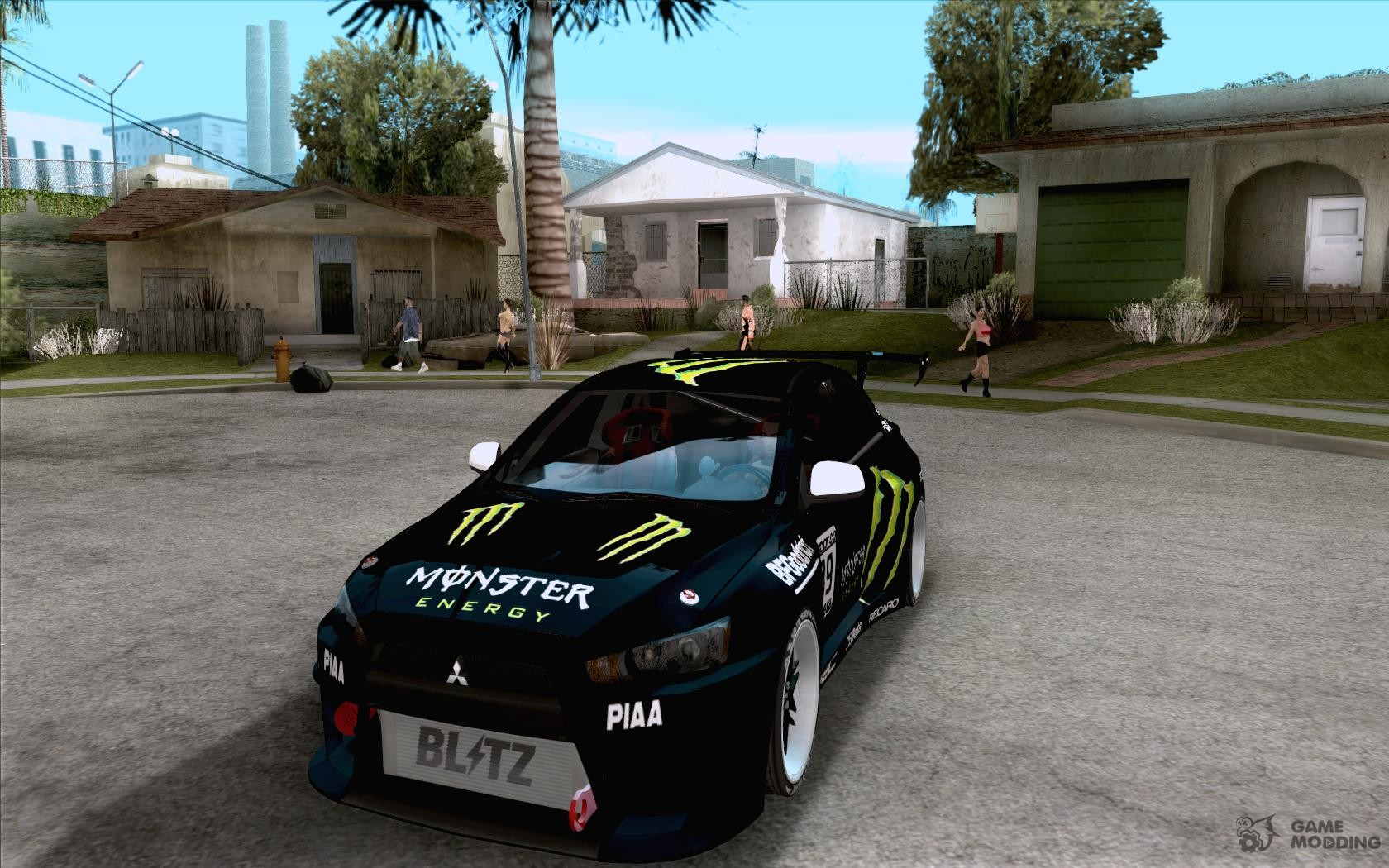 Mitsubishi Lancer Evolution X Monster Energy For GTA San Andreas Great Pictures