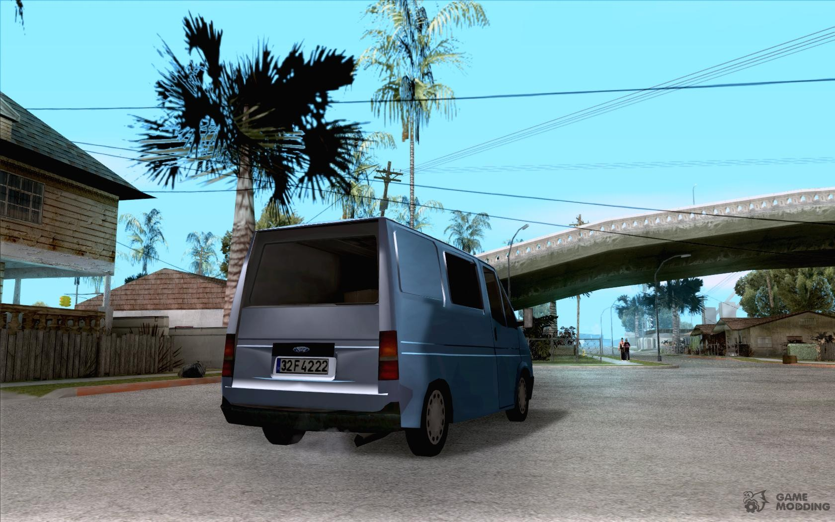 Ford transit 1999 for gta san andreas top view