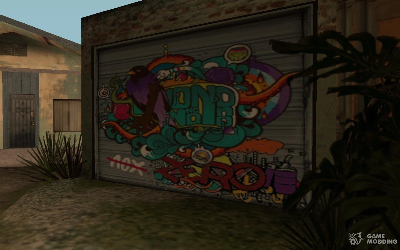 Graffiti On The Garage For Gta San Andreas