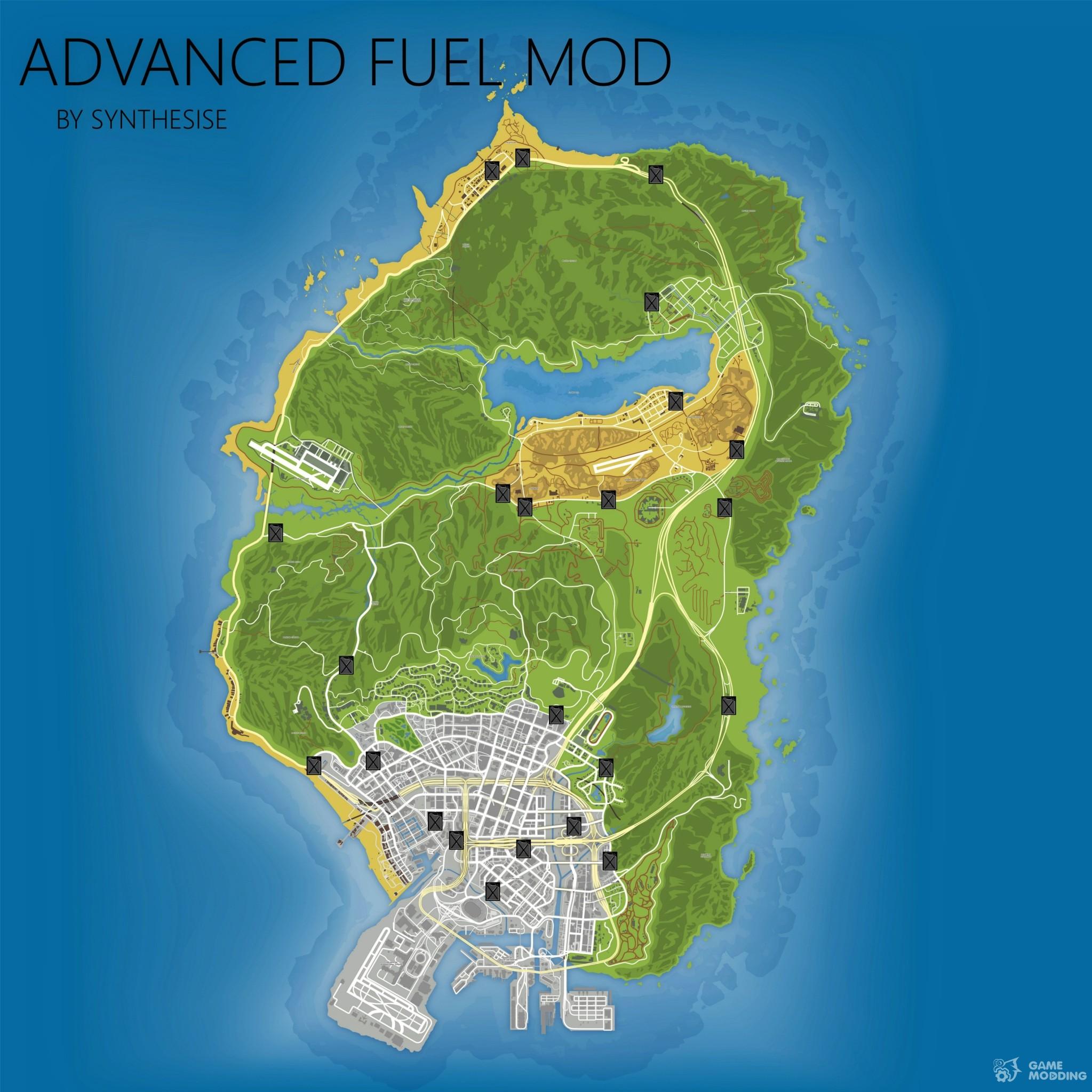 Advanced Fuel Mod 1.3 For GTA 5