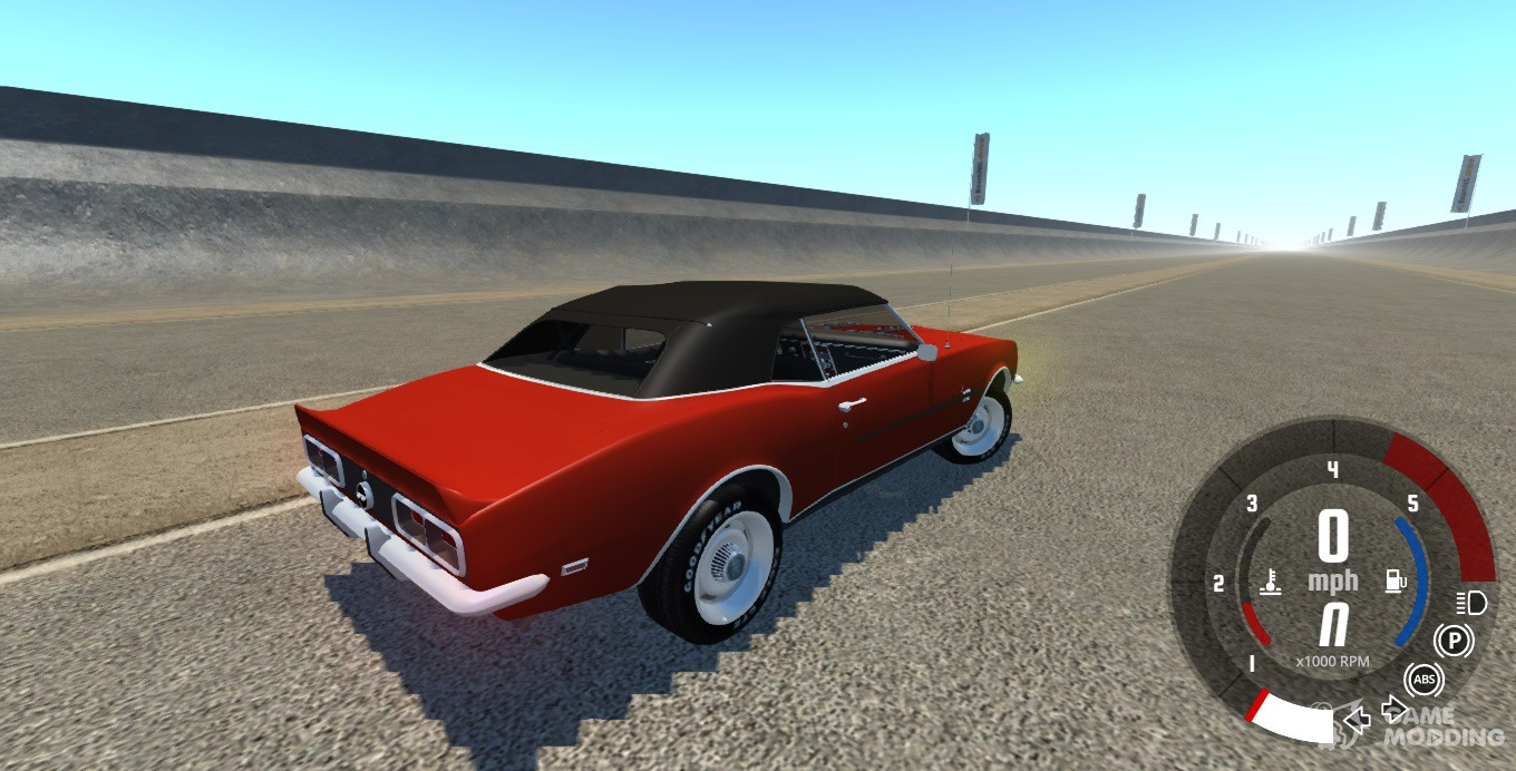 Chevrolet Camaro Rs Ss 396 1968 For Beamngdrive Black