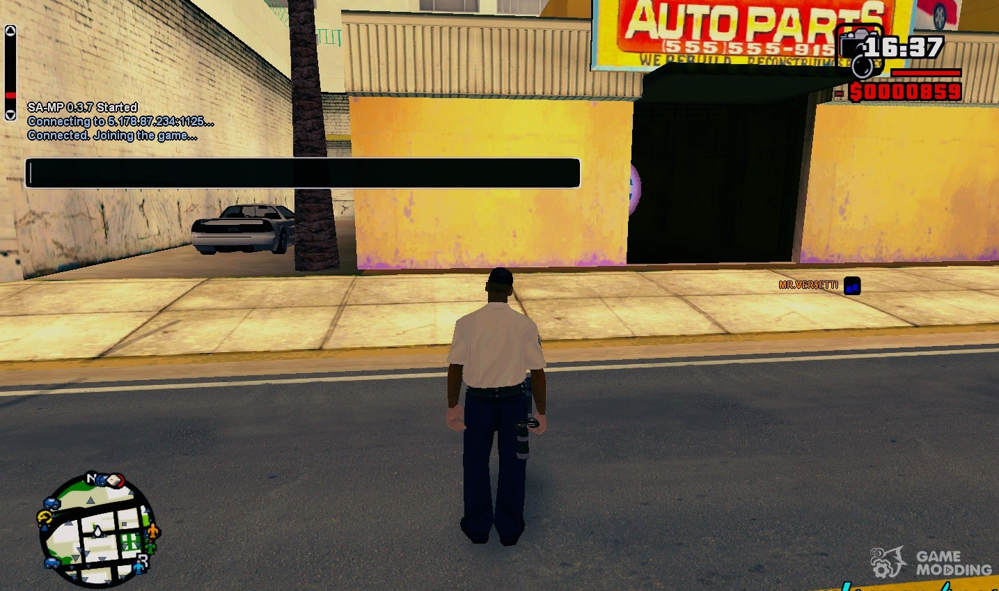 Standard mouse cursor and chat for SAMP for GTA San Andreas