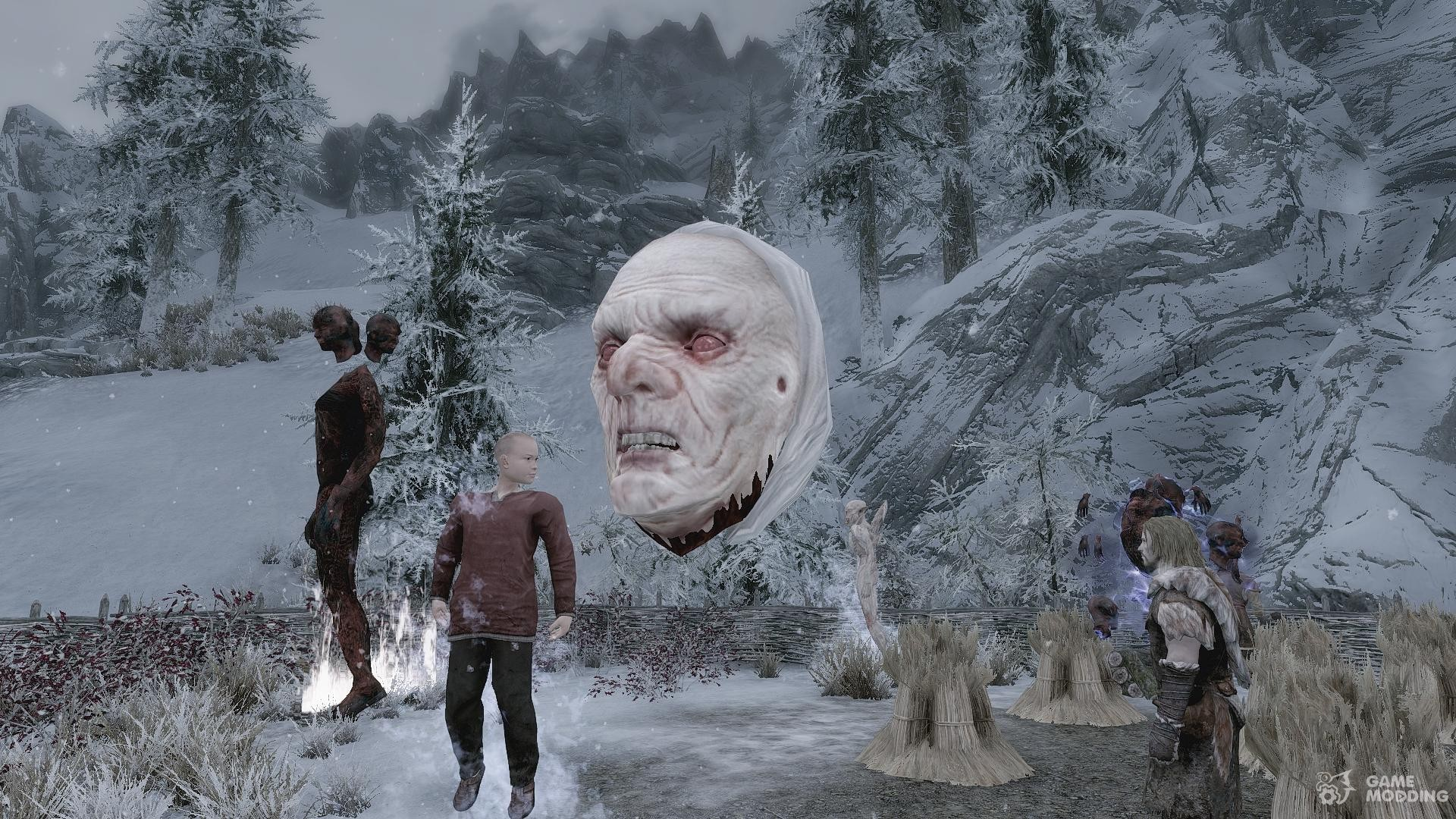 Summon Creatures of the Hell - Mounts and Followers for TES V Skyrim right view