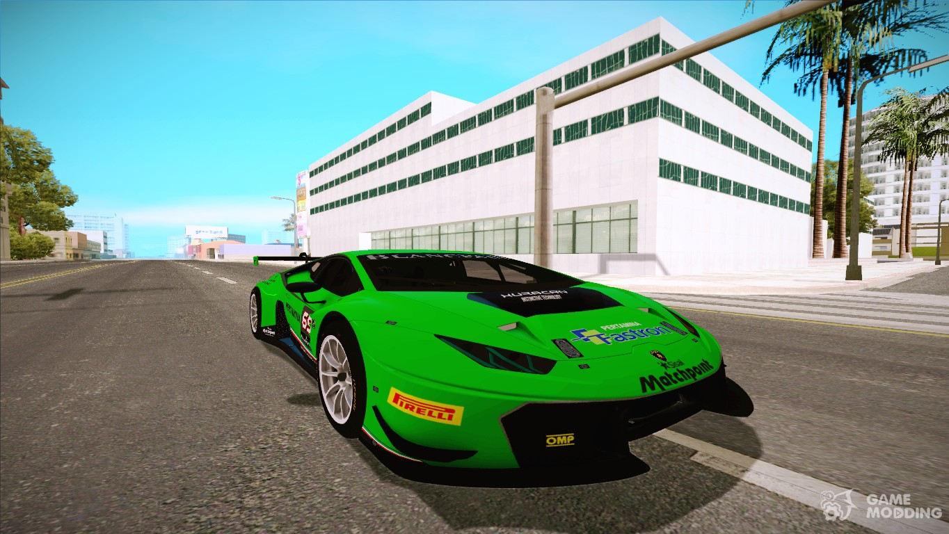 2015 lamborghini huracan 610 4 gt3 for gta san andreas. Black Bedroom Furniture Sets. Home Design Ideas