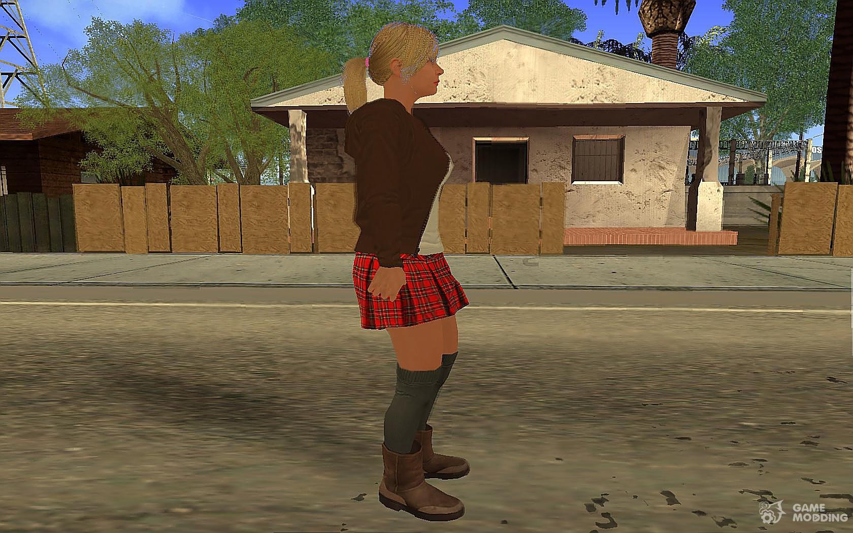 Tracey De Santa from GTA V v.2 for GTA San Andreas