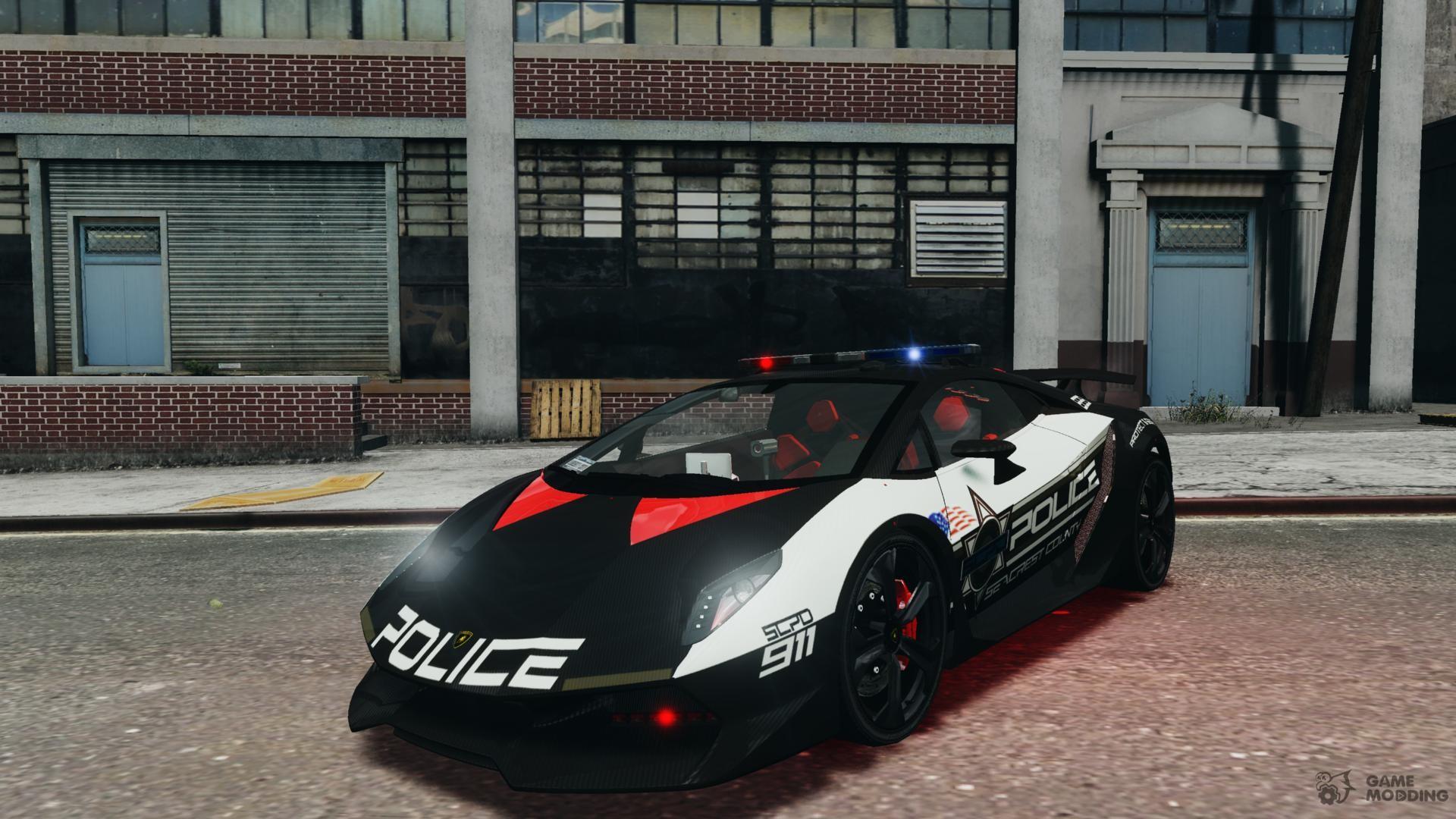 Lamborghini Sesto Elemento 2011 Police V 1 0 For Gta 4
