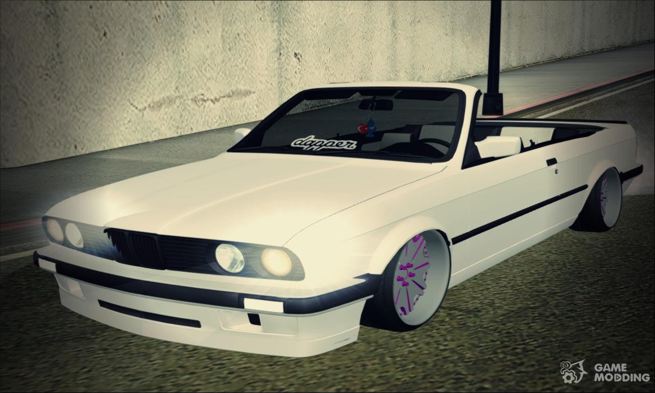 bmw e30 cabrio b o yap m for gta san andreas. Black Bedroom Furniture Sets. Home Design Ideas