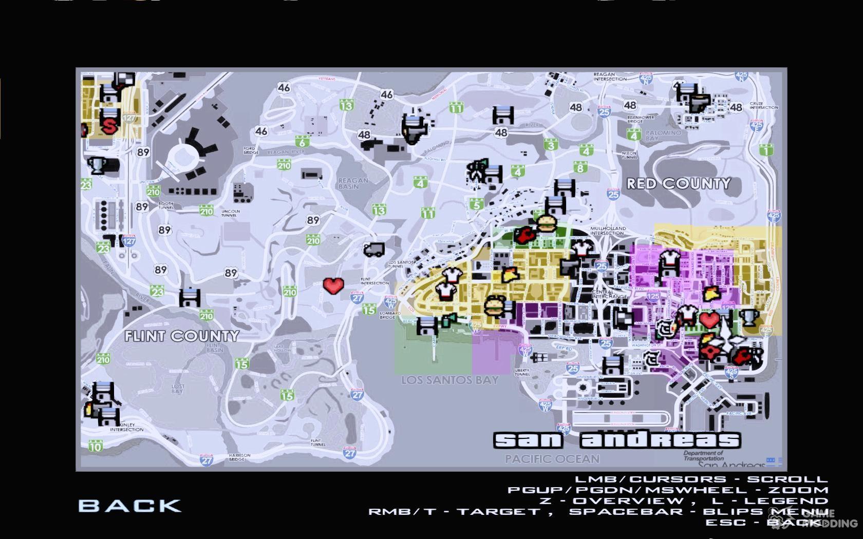 Скачать карту для gta sa с названиями улиц