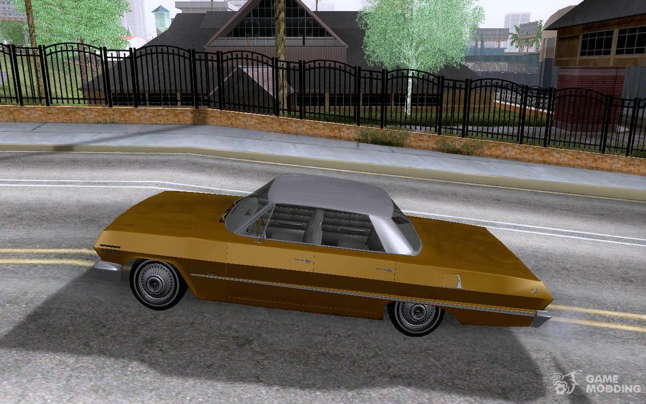 Chevrolet impala 4 door hardtop 1963 for gta san andreas - Chevrolet Impala 4 Door Hardtop 1963 For Gta San Andreas Left View
