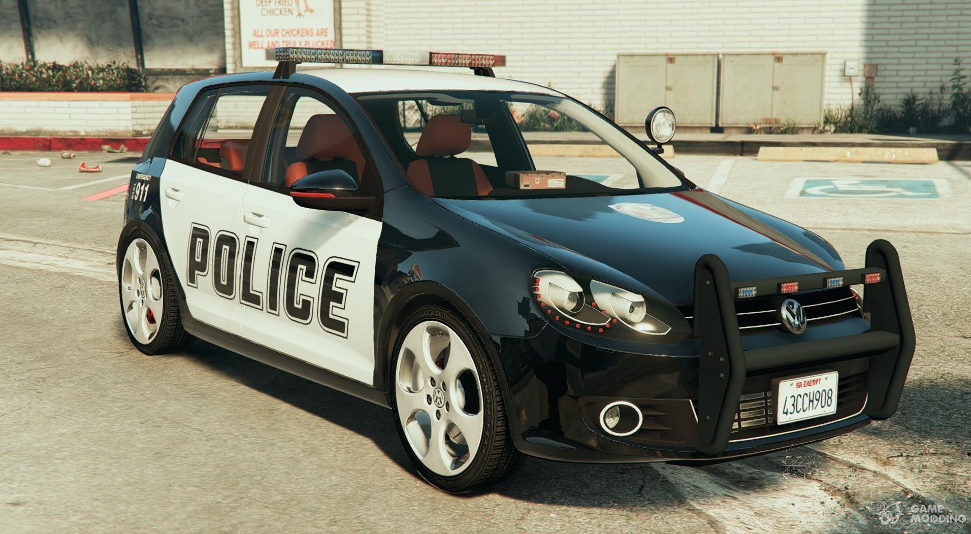 volkswagen golf mk 6 police version for gta 5. Black Bedroom Furniture Sets. Home Design Ideas