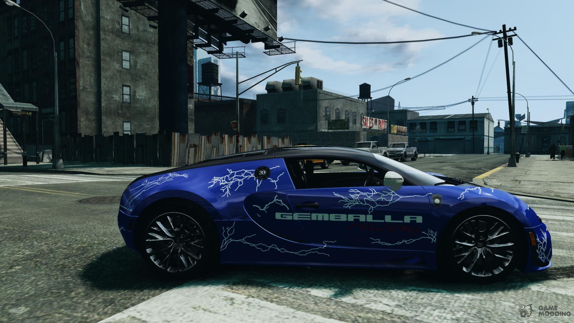 bugatti veyron 16 4 super sport 2011 v 1 0 gemballa racing for gta 4. Black Bedroom Furniture Sets. Home Design Ideas