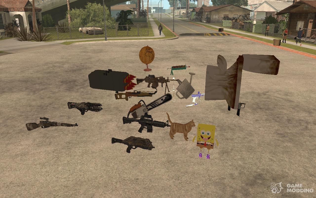 Скачать Паки Оружия для GTA San Andreas