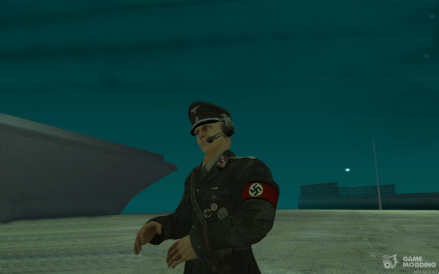A German officer of The New Order Wolfesntein for GTA San