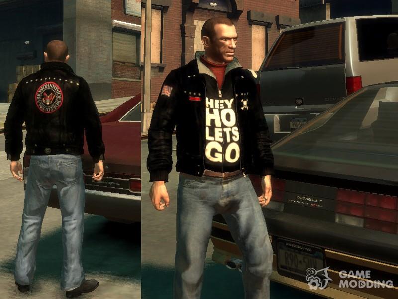 Gta 4 black leather jacket mod
