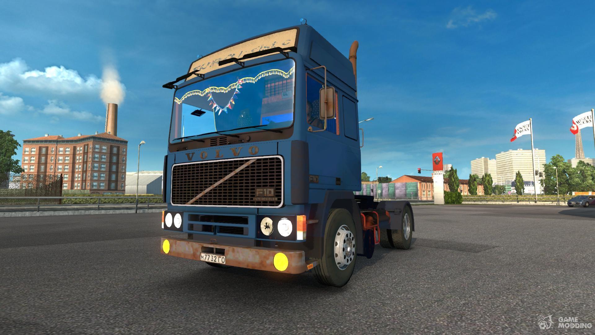 volvo f10 for euro truck simulator 2. Black Bedroom Furniture Sets. Home Design Ideas