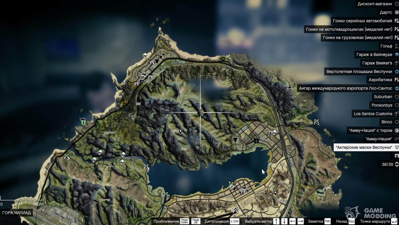 Satellite Map Of K For GTA - Digital satellite map