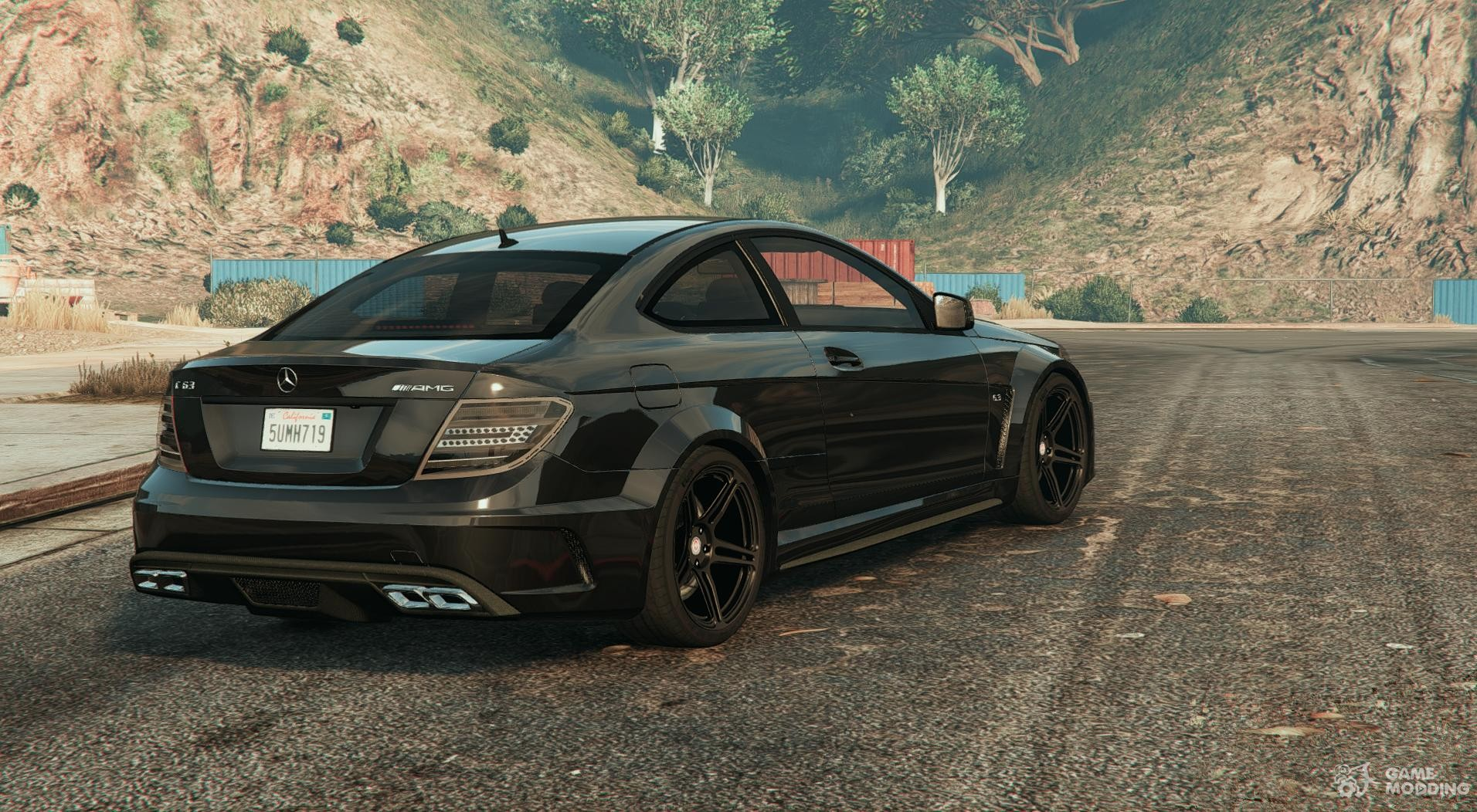 Mercedes benz c63 amg unmarked for gta 5 for Mercedes benz gta