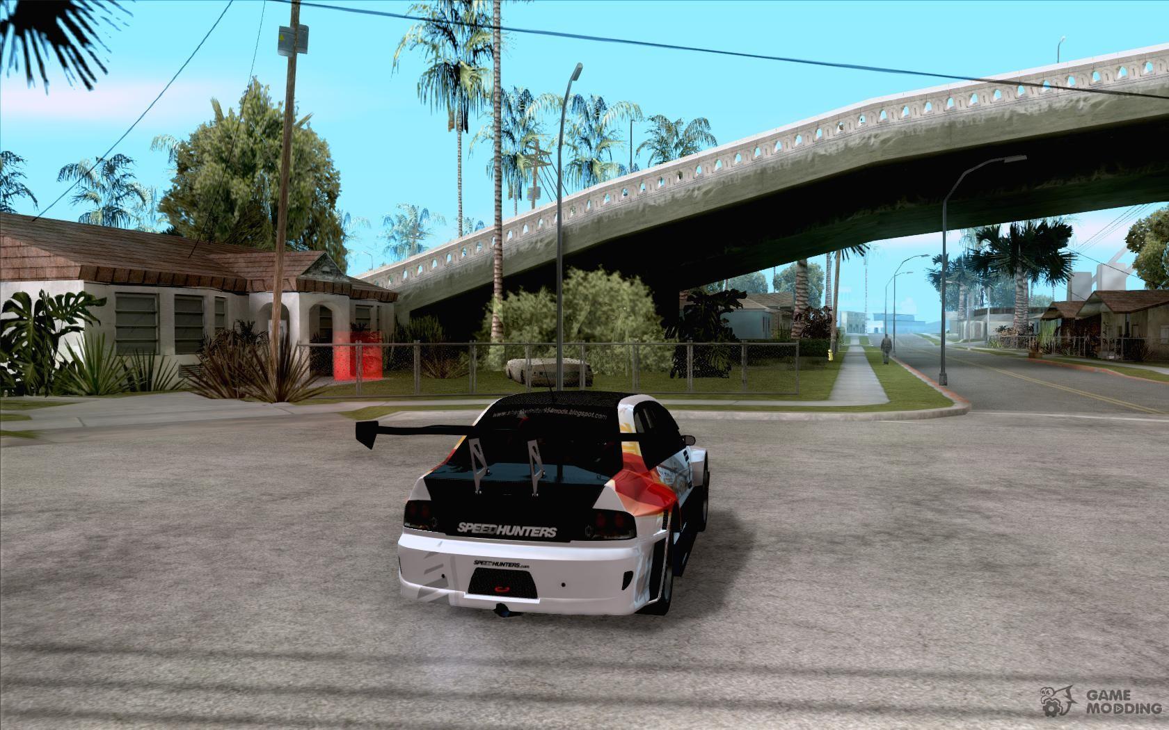 Mitsubishi lancer evo ix speedhunters edition for gta san andreas top view