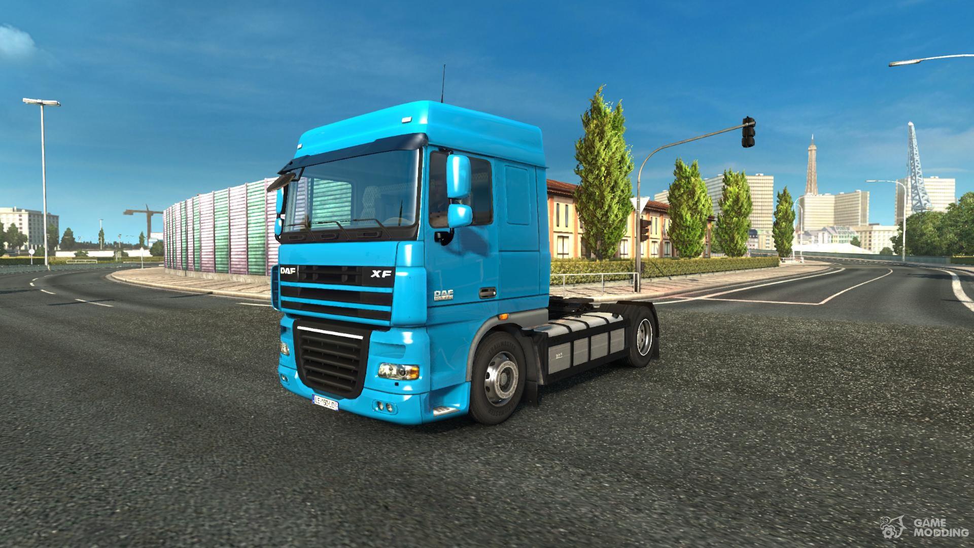 daf xf 105 reworked v 2 0 for euro truck simulator 2. Black Bedroom Furniture Sets. Home Design Ideas