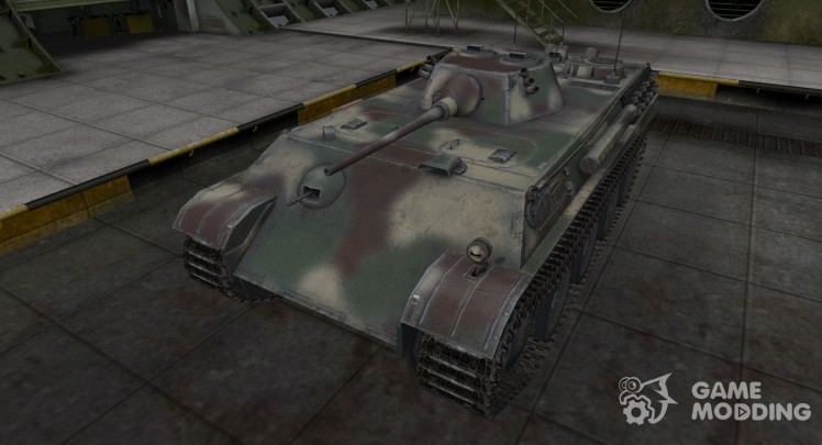 Skin camouflage for tank Aufklarerpanzer Panther
