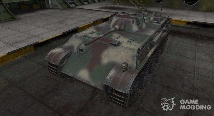 Skin camouflage for tank Aufklarerpanzer Panther