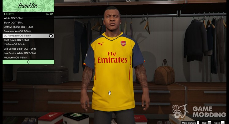 Arsenal Away shirt Kit for Franklin
