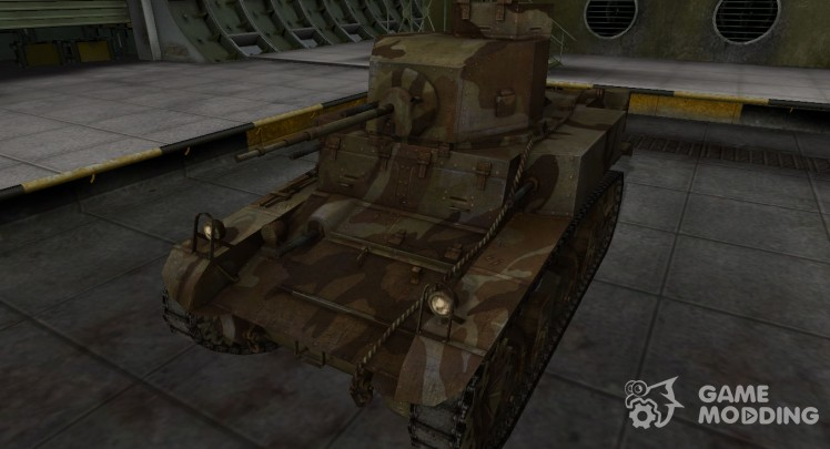 The skin for the American M3 Stuart tank