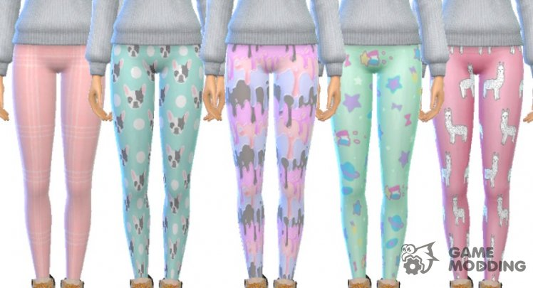 Tumblr Themed Leggings Pack Of Twelve