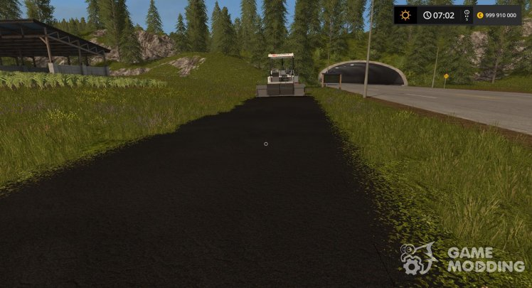 Black asphalt for Farming Simulator 2017