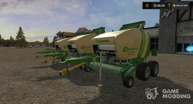 Krone Comprima f155 banding tapes XC v1.1.0.0