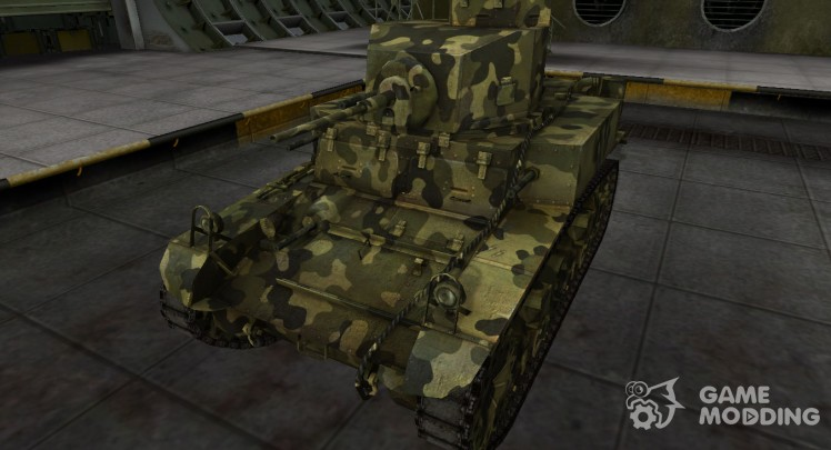 Skin for M3 Stuart camouflaged
