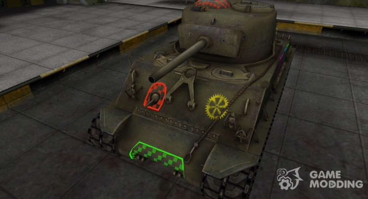 Quality of breaking through for M4A2E4 Sherman