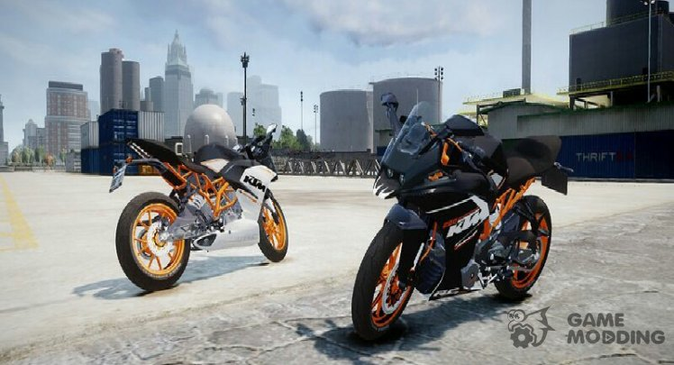 KTM RC 390 and 200