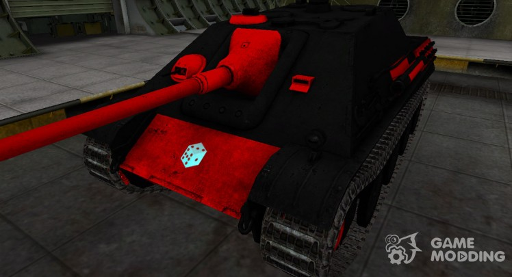 Black and red zone breakthrough Jagdpanther for World Of Tanks
