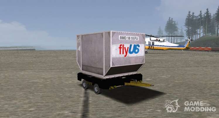 GTA V Airport Trailer (Small cargo trailer) (VehFuncs)