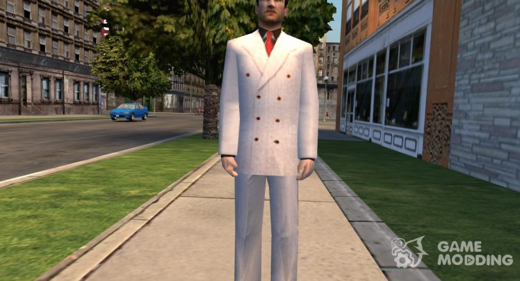 Tommy in the white suit