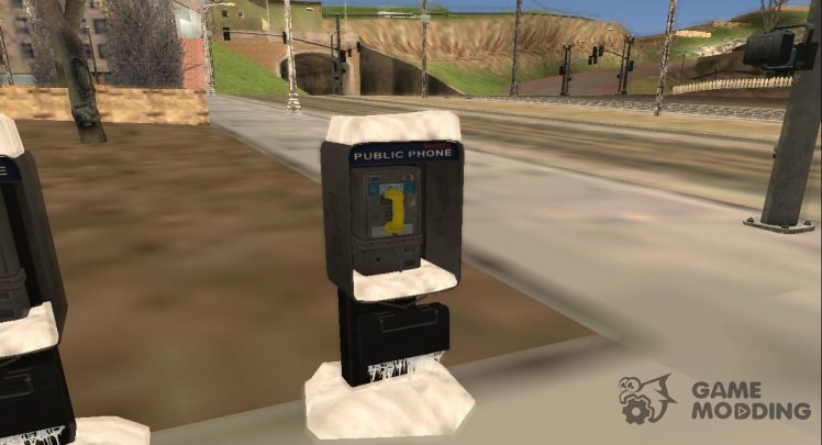 Winter Public Phone