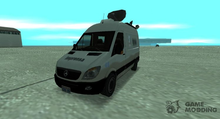 Mercedes Benz Sprinter Newsvan Lowpoly