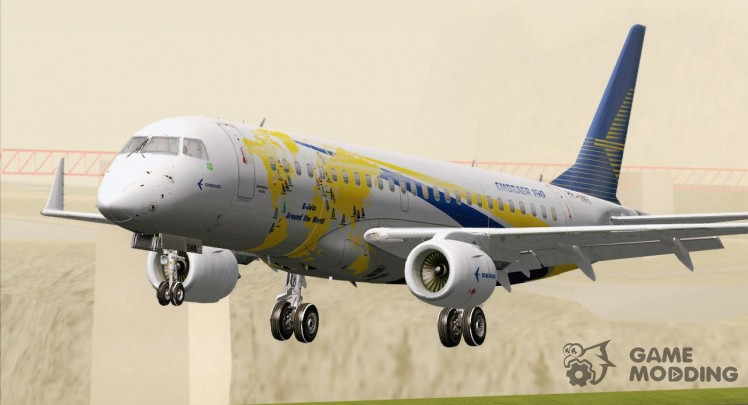 Embraer ERJ-190 Embraer House World Logo Livery (PP-XMB)