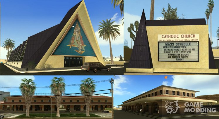 Las Vegas Guardian Angel Cathedral Catholic Church And Train Stations Textures