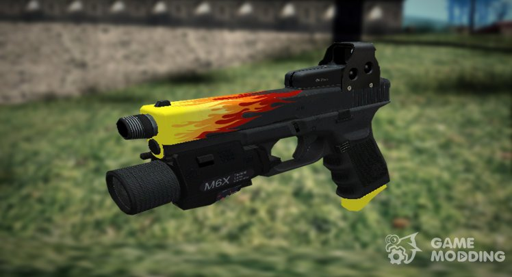 DESERT EAGLE IN THE STYLE OF FIRE