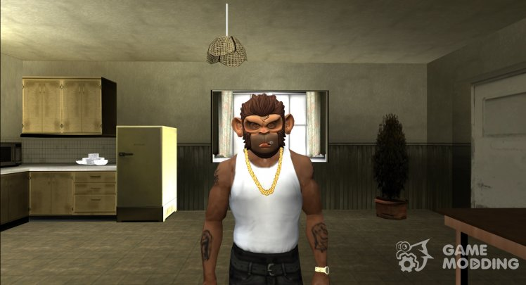 GTA V Space Monkey Mask For CJ