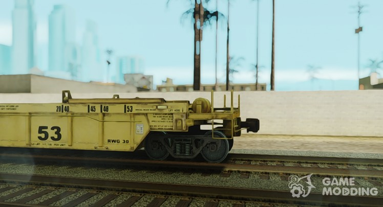 Flatcar (yellow color)