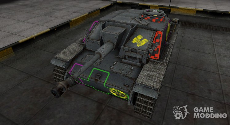 Contour zone marked the StuG III for World Of Tanks