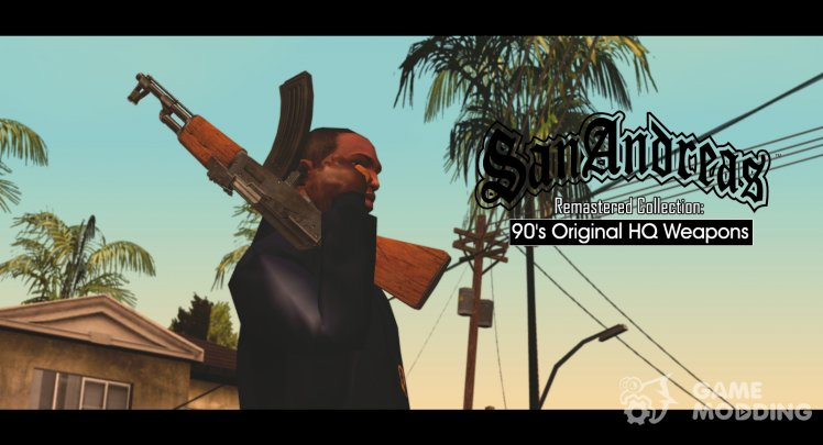 S. A. Remastered Collection: 90's Original HQ Weapons для GTA San Andreas