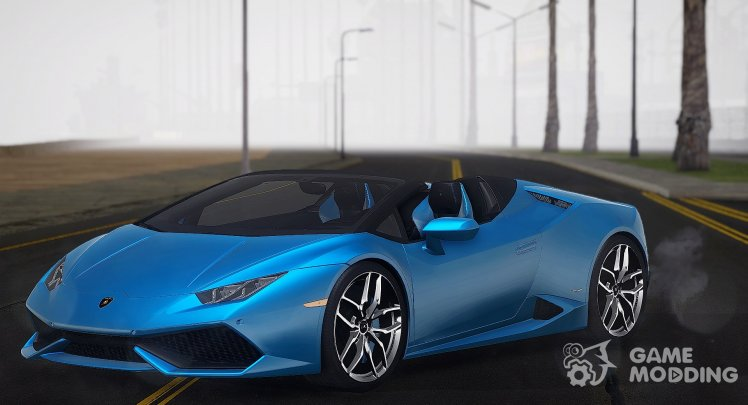 Lamborghini Huracan LP610-4 Spyder Without Roof